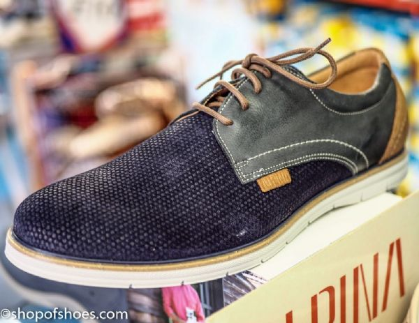 Newly desigened soft suede leather mens navy shoe.